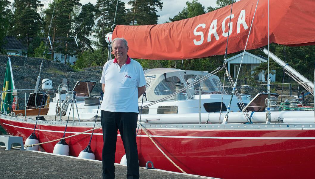 LANGT KJÆRLIGHETSFORHOLD: Erling Lorentzen har eid «Saga» siden 1971, som er båten i hans hjerte.