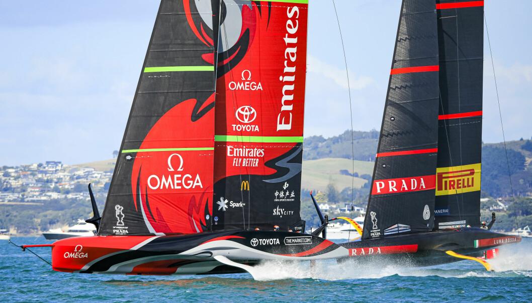 Race Day 5 Emirates Team New Zealand, Luna Rossa Prada Pirelli Team