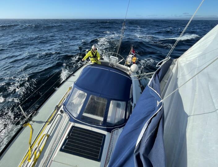 SOL: Det ble to raske etapper fra Kristiansand til Verdens Ende, begge med snittfart på rundt 8 knop.