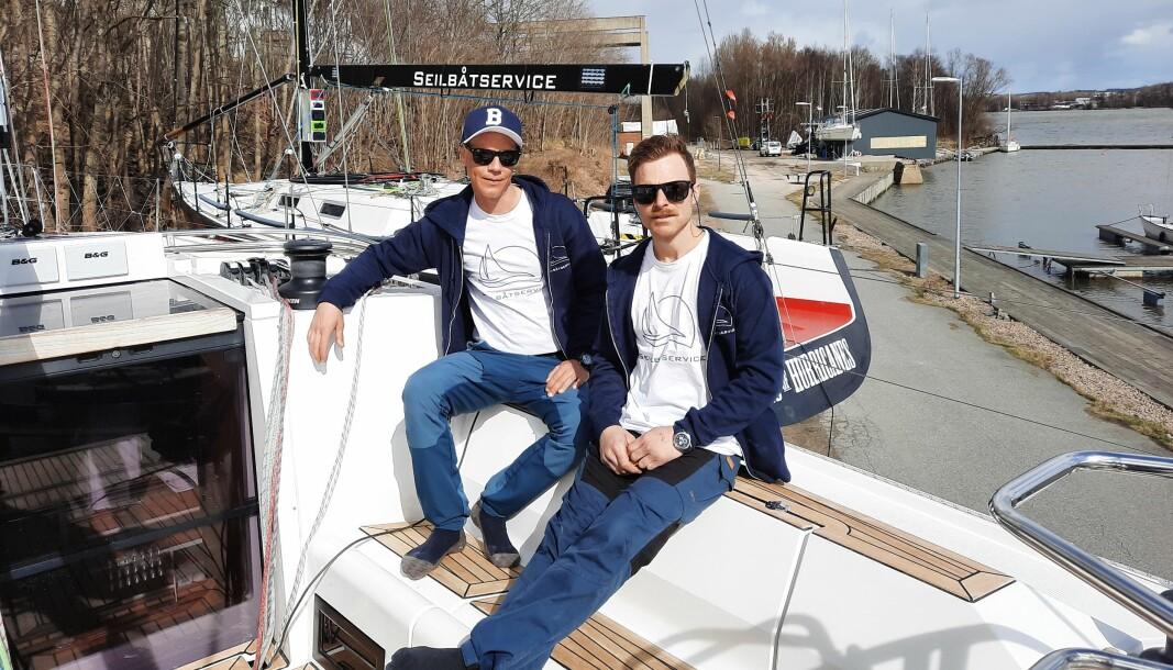 IMPORTØRER: Erik Welin-Larsen og Kjetil Fjeldvik Kjenner i Seilbåtservice er blitt Elans nye folk i Norge.