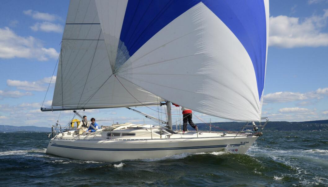 FÆRDERSEILASEN: «Cilantra» med gennaker i frisk vind fra nord.