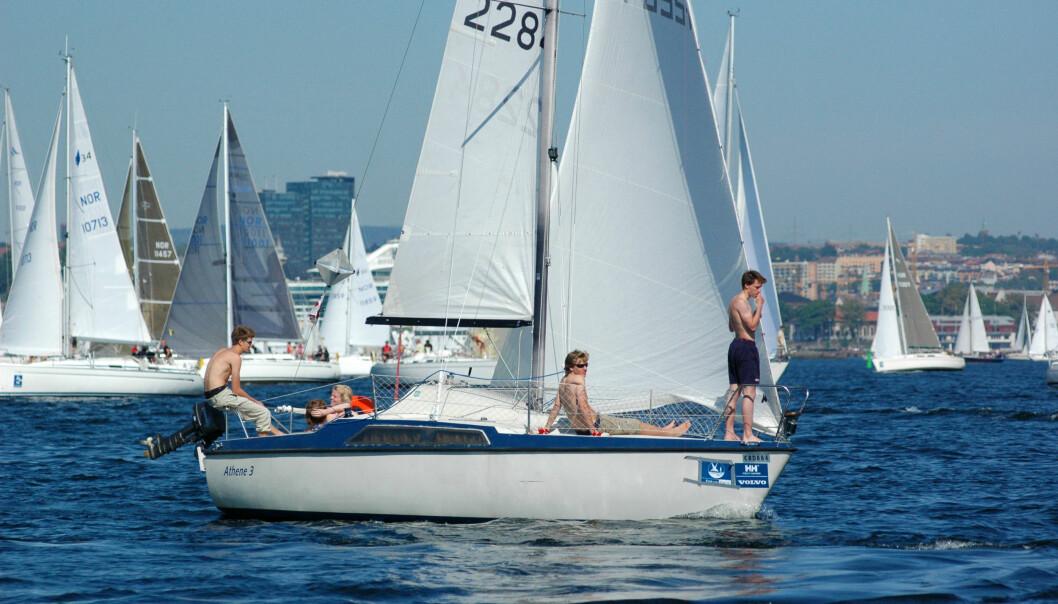 UNGDOM: MAXI 77 er ideell for unge mennesker, og båttypen egner seg for den korte banen i Færderseilasen.