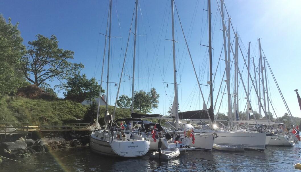 LANGØY: Foruten hytten har Langøy en god brygge og flere flytebrygger. Plassen er forbeholdt foreningens medlemmer og langveisfarende seilere.