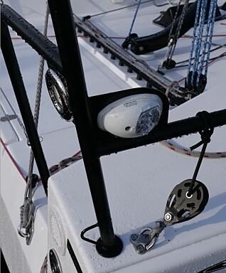 Bauglanternen er flyttet bak. Det sparer noen meter med kabel.