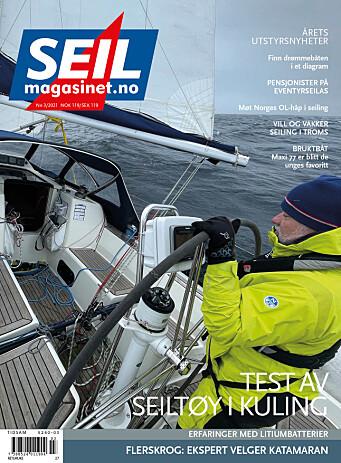 FORSIDE: Fra Kristiansand til Risør i kuling 30. mars 2021.