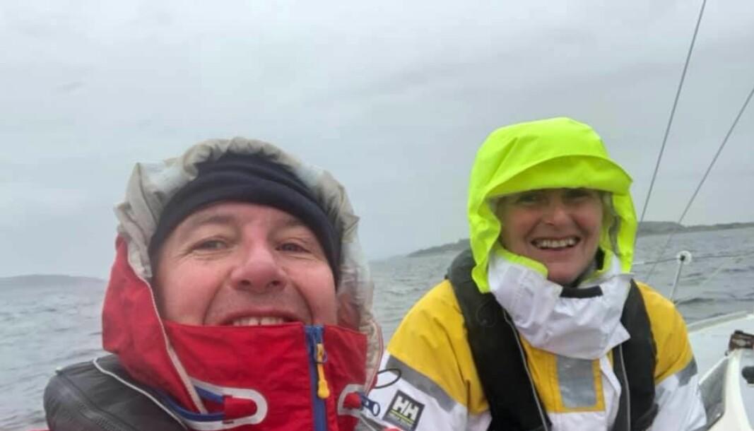 ÅRETS FØRSTE SEIER: Kristian Andreasen og Siv Lund vant årets første shorthanded-regatta.