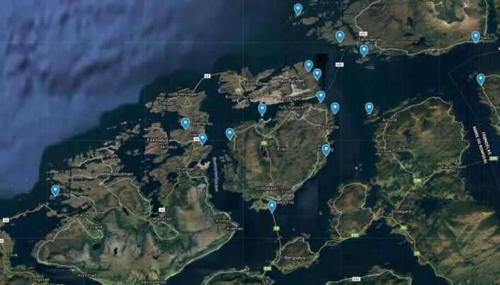 SEIL-UT: Foreningen har lagt ut 18 destinasjoner verdt å besøke med seilbåt eller padlebrett.