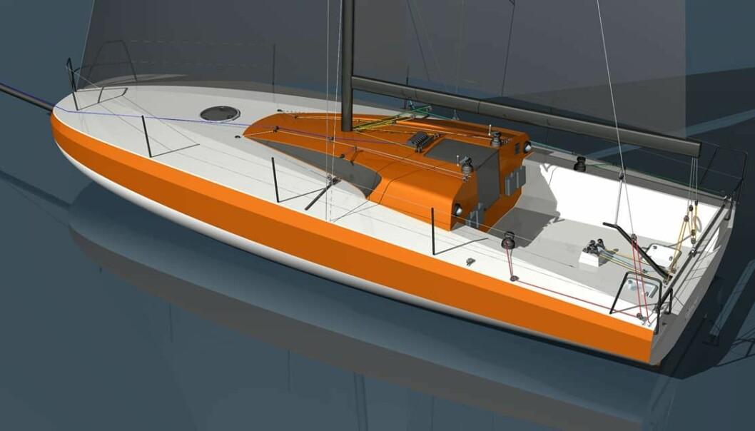 SCOW: Finot Conq har skapt en enkel havseiler med butt baug, en form som gir fordeler når båten planer.