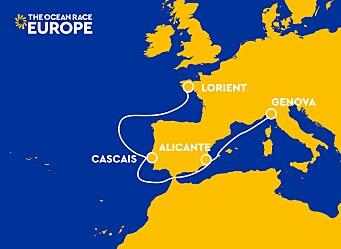 BANE: The Ocean Race Europe går desseverre i sydlige del av Europa.