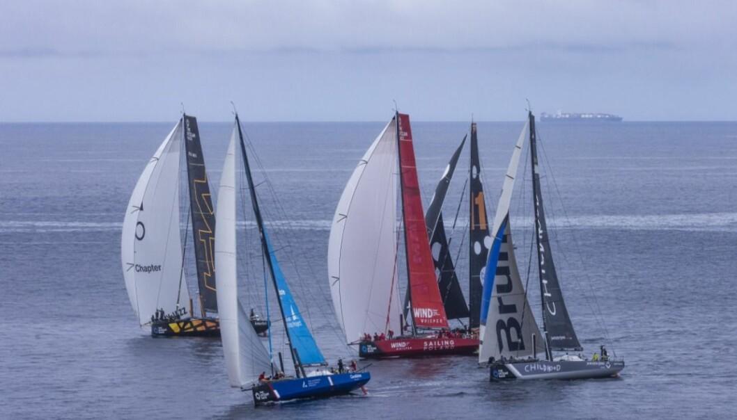 Målgang i Ocean Race Europe