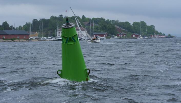 STRØM: Ekstrem nordgående strøm i Drøbaksund.