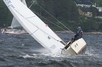 Opp i 17 m/s i Drøbaksund