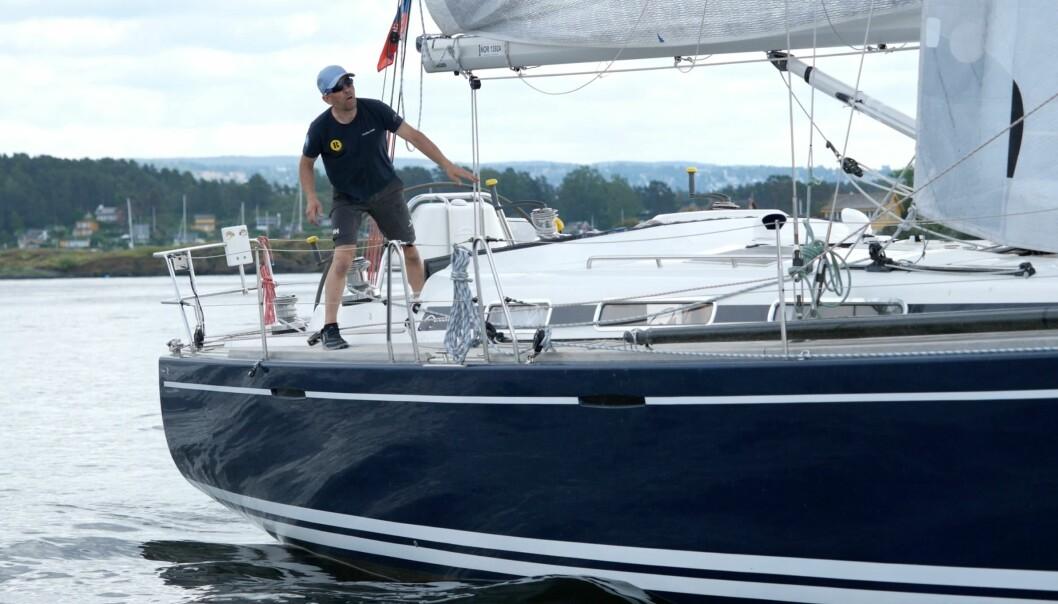 SOLO: Christer Lie seilte Færderseilasen alene, og vant.