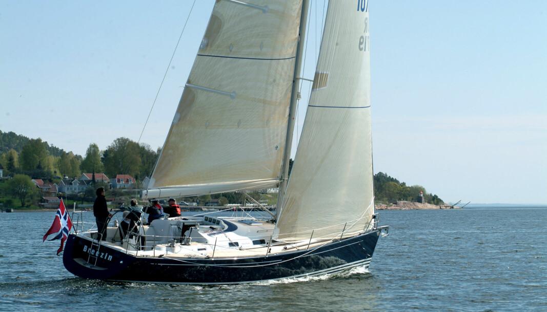 SOLGT: En 16 år gamme X-40 lå ute for 1,55 millioner, men ble solgt raskt. Andre båter har blitt liggende usolgt lengre enn ventet.