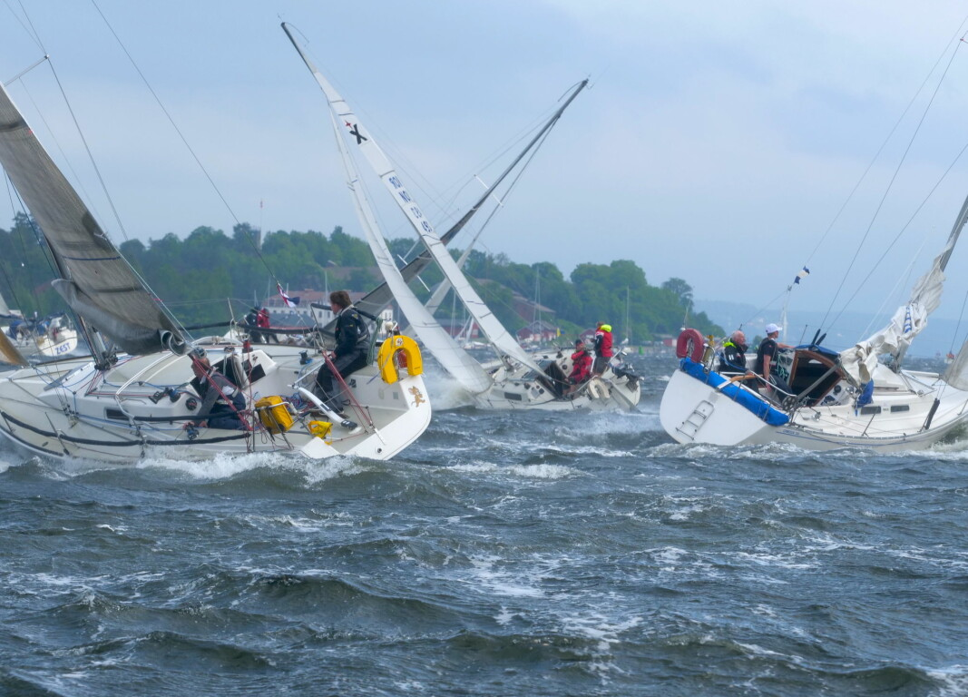 KULING: Det ble tøffest i Drøbaksund med over to knops motstrøm, og vindkast opp mot 17 m/s.