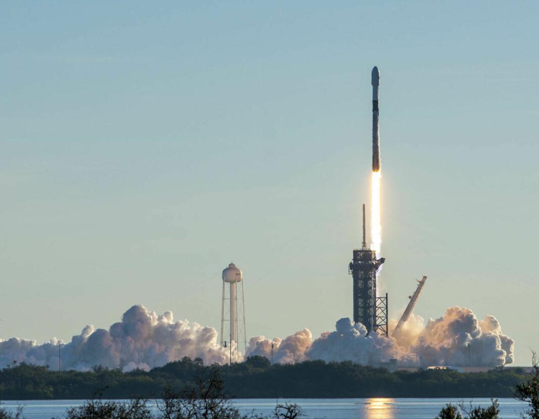 SPACEX: Elon Musk har skutt opp nye Iridium-satellitter, og skyter nå opp sine egne Starlink-satellitter.Click to add image caption