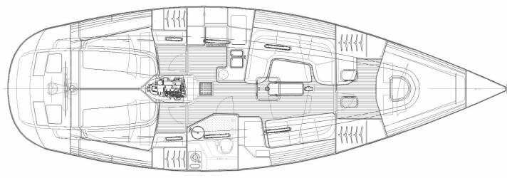 Salona har et bredere forskip som gir mer volum under dekk. Du kan få den med to bad også.
