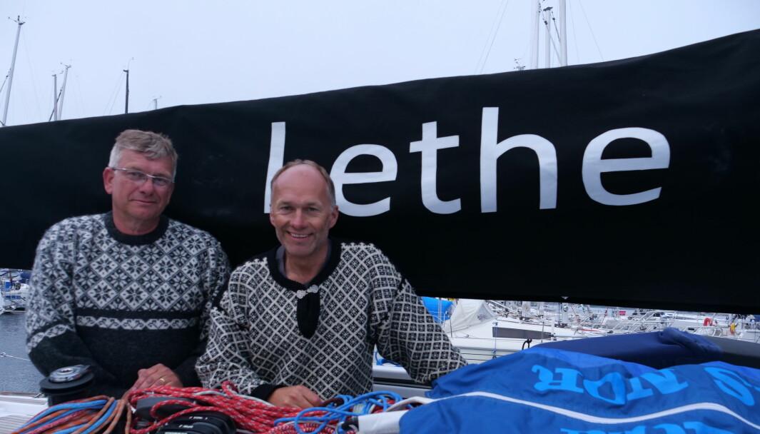 """«Lethe"""" en First 34.7 med Øyvind og Morten Knudsen kjemper om «Line honours»"""