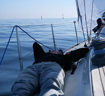 MORGEN STEMNING: Null vind og motstrøm skapte utfordringer og muligheter.
