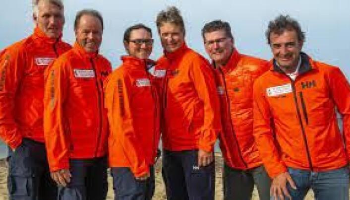 Trenerteamet Espen Guttormsen, Lars Loennechen, meteorolog Eric Holden, Thomas Guttormsen, Rigo de Nijs og Anton Garotte.