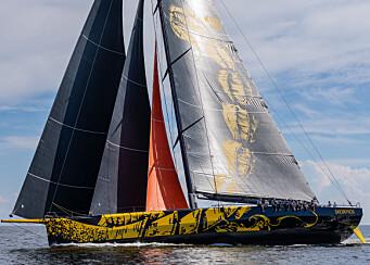 SEIL: Båten er satt opp med flere stag med seil på rull slik som på IMOCA-båtene.