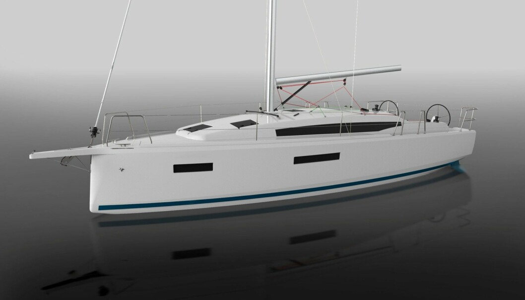 TØFF: Marc Lomard har gitt nye Sun Odyssey 380 moderne linjer med negativ baug og spring.