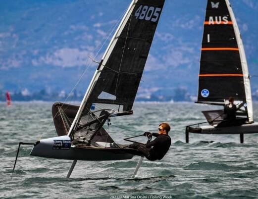 Nicolai Jacobsen trener med Tom Slingsby
