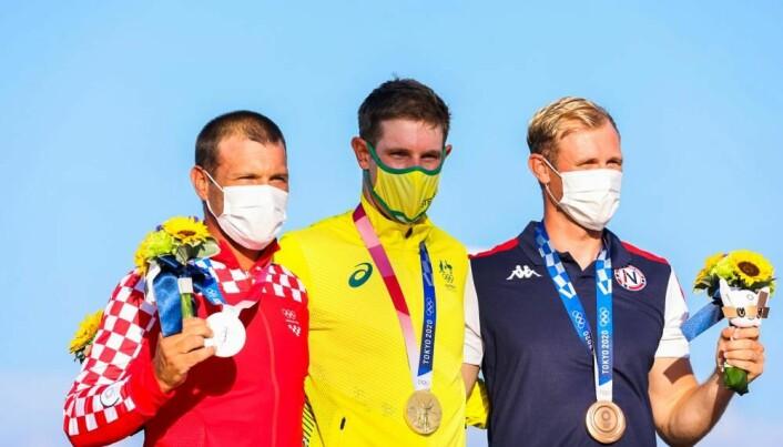 Tokyo2020: Gull Matt Wearn, Sølv Tonci Stipanovic, Bronse Hermann TomasgaardClick to add image caption