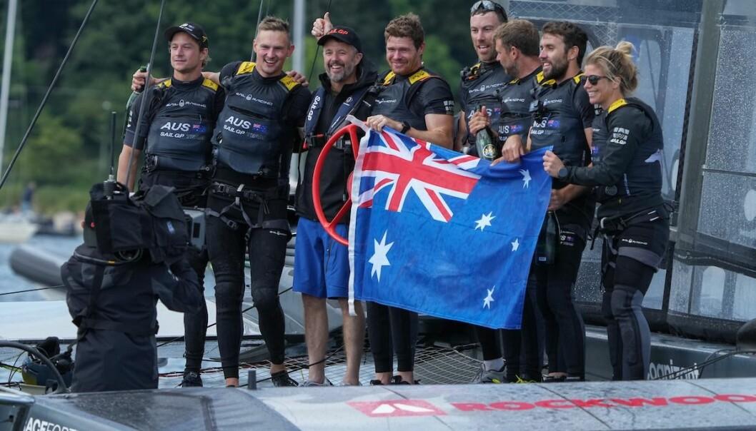 BEST: Team Australia med Tom Slingsby som skipper var best i SailGP i Danmark.