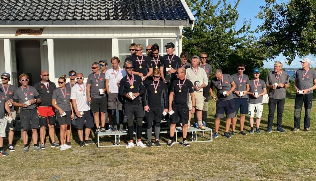 VINNERE: Gull til «White shadow», sølv til «Team Magic» og bronse til «Fra av Fjærholmen.