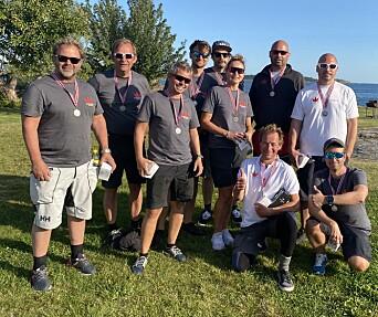 SØLV: «Team Magic» med Erik Kristansen med like få poeng som vinneren.