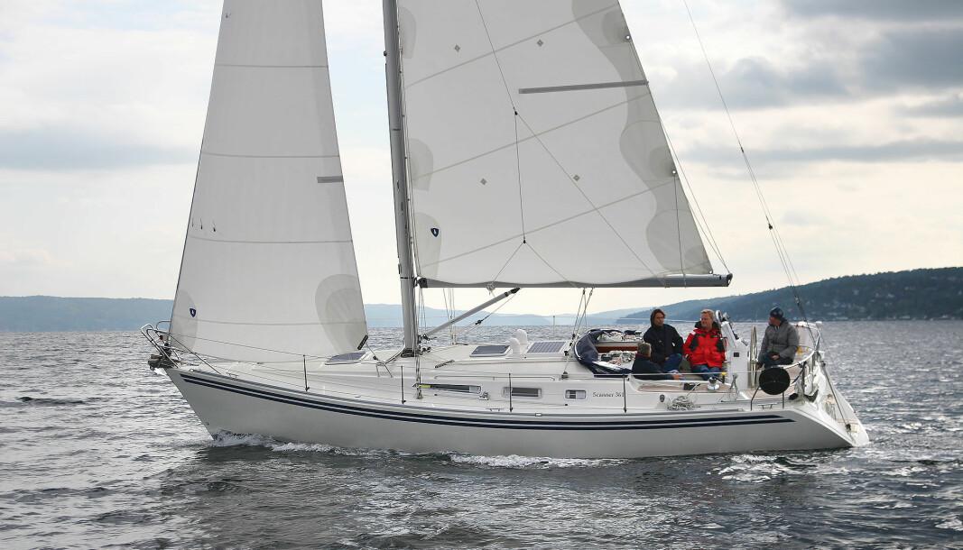 SEILGLEDE: Scanner 361 er en skikkelig seilbåt med tradisjonelle linjer.