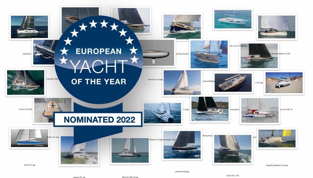 UTVALGTE: 25 nye båter er nominert til Årets Båt i Europa 2022