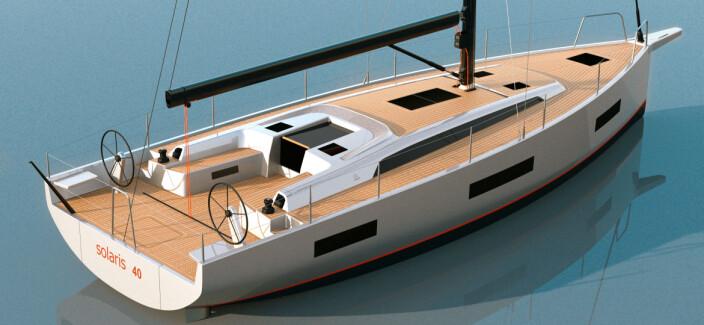 ITALIENSK: Solaris har satt en trend når det gjelder styling. Nå blir de italienske båtene også bredere.