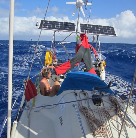 BLÅMYRA: Atlanterhavet blir ekstra stort i en 25-foter.