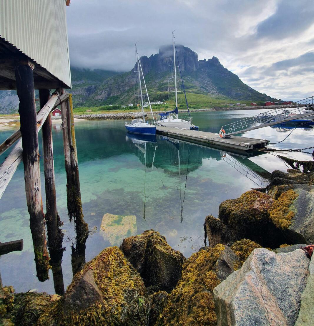 RESERVAT: Sørfugløy ligger ca 20 nautiske mil sørvest for Bodø. Fjellene skyter 765 meter opp av havet, og øya er naturreservat.