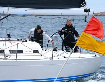 SØLV: Magnus Hedemark og Morten Christensen fikk like mange poeng som vinnerbåten.