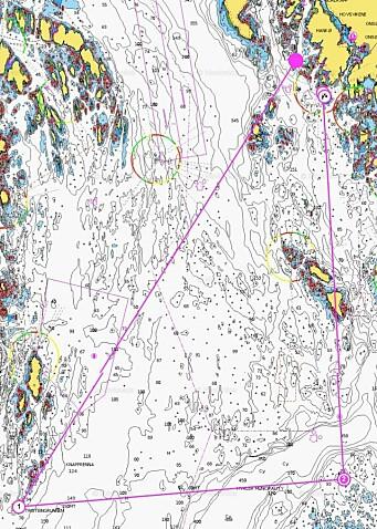 LØP: Den store klassen hadde kryss fra Hankø til Færder og skarp slør over til Torbjørnskjær før en medvindsstrekk tilbake til Hankø.