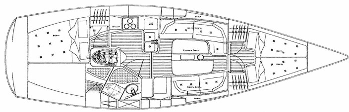 SWEDESTAR: Testens smaleste båt gir mindre volum, men planløsningen fungerer godt med to lugarer.