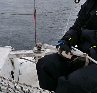 RORKULT: Vanligvis går båten rett frem når rorkulten peker rett frem, på «Halling» peker den 15 grader mot babord.