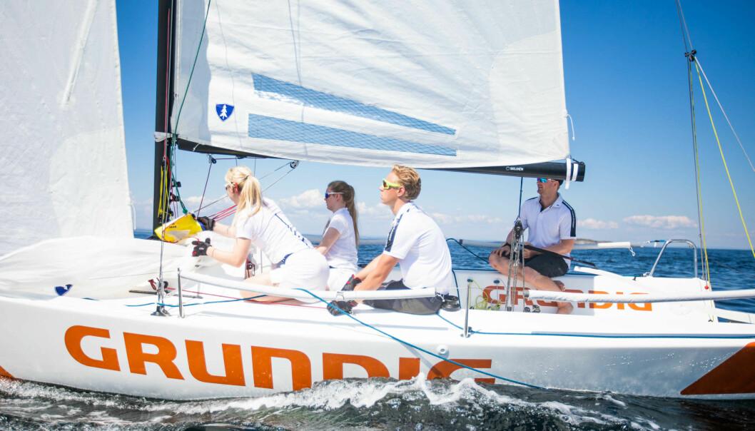 POPULÆR: J/70 er båten som brukes i Seilsportsligaen og mange av landets neste seilere har god erfaringen med båttypen.