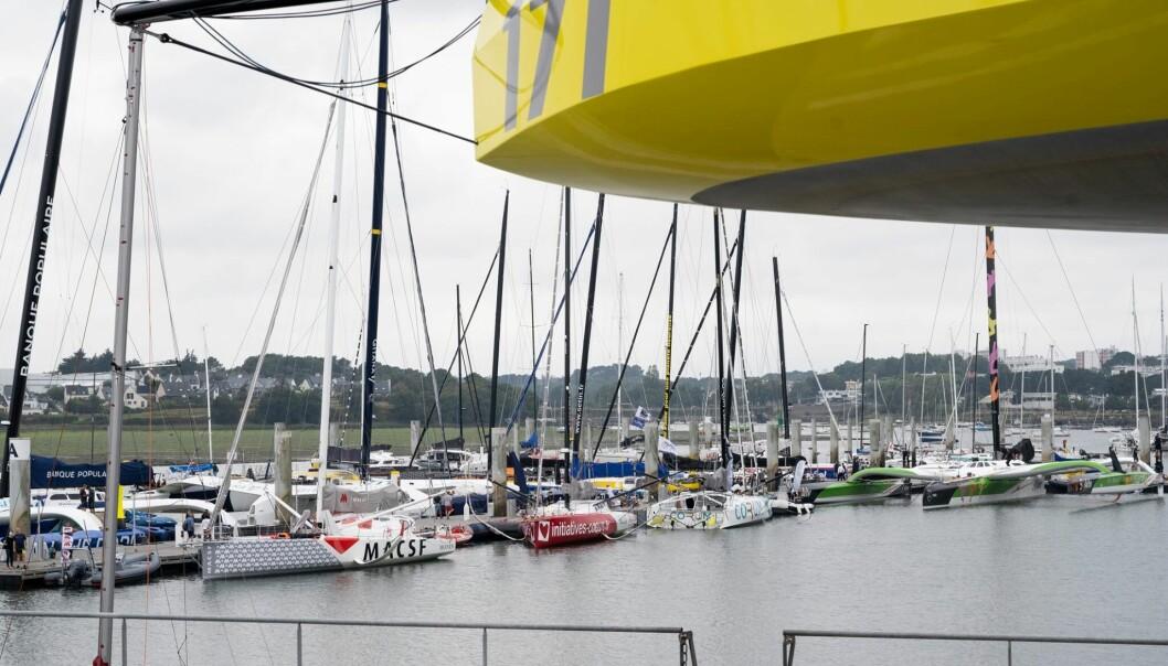 SENTER: I Lorient er miljøet samlet. Her er det IMOCA, Ultime og Class 40 i en salig blanding.
