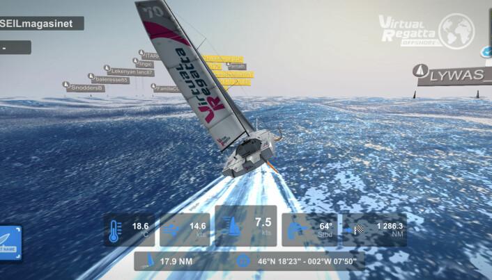 SPILL: VR Offshore kan du seile mot feltet.
