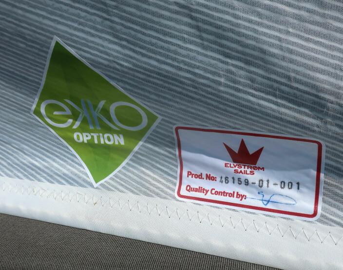 SAMMENLIGNBART: Seil av resikrulert polyester holder samme kvalitet og koster det samme som seil av fersk polyester.